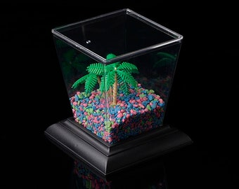 Desktop Aquarium, Terrarium, or Insect Cage  5-3/4″ x 5-3/4″ x 6-1/8″  70 oz FREE SHIPPING!
