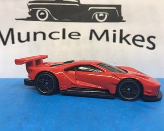 Custom Hot Wheels 2016 Ford Gt Race Custom Painted Cherry Red