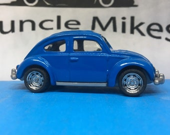 Custom Hot Wheels: VW Bug Volkswagen Beetle With Custom Wheels and Rubber Tires