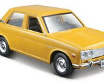 Collectible 1/24 Scale Diecast 1971 Datsun 510 (Yellow)