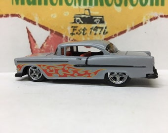 Hot Wheels 1955 Chevy Hot Rod With Rubber Tires And IROC wheels GRAY