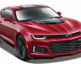 Collectible 1/24 Scale Diecast 2016 Chevrolet Camaro SS (Red) Diecast Model from Maisto