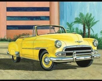 Plastic Model Kit: AMT-1041 1951 Chevy Sun Cruiser Convertible