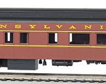 Model Railroading BAC-13802 Bachmann Industries Prr #130 Ho Scale 72' Heavyweight Observation Car with Lighted Interior