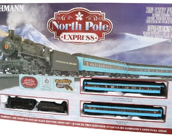 Model Railroading Bachmann BAC-751 Trains - North Pole Express Ready To Run Electric Train Set - HO Scale