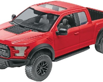 Plastic Model Kit RMX-1985 2017 Ford F150 Raptor Pickup Truck (Red) (Snap) Plastic Model Free Shipping!