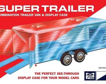 Plastic Model Kit MPC-909 Super Trailer Clear Display Case Plastic Model Free Shipping!