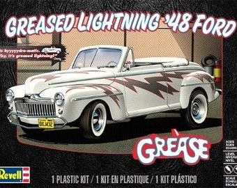 Plastic Model Kit RMX-4443 Greased Lightning 1948 Ford Convertible Plastic Car Model Free Shipping!