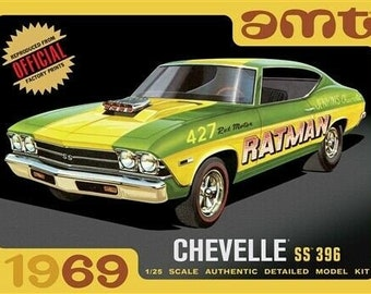 Plastic Model Kit amt-1138 1969 Chevelle ss 396 Car Plastic Car Model + Best Deal Online + DISPLAY CASE INCLUDED +