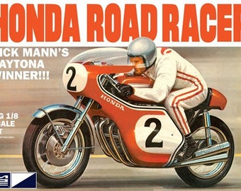 Plastic Model Kit mpc-856 Dick Mann's Honda 750 Road Racer Motorcycle Plastic Model + Best Deal Online + DISPLAY CASE INCLUDED +