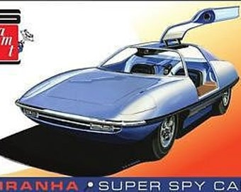 Plastic Model Kit: amt-1113 Piranha Super Spy Car Model Kit + Best Deal Online + DISPLAY CASE INCLUDED +