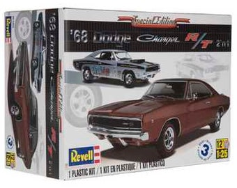 Plastic Model Kit: rmx-4202 1968 Dodge Charger 2 'n 1 Model Kit Mopar + Best Deal Online + DISPLAY CASE INCLUDED +