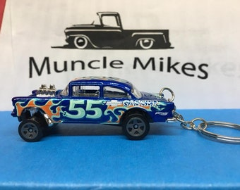 Hot Wheels 1955 Chevy Gasser Christmas Ornament,  Keychain or Zipper Pull