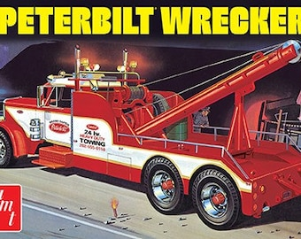 Plastic Model Kit AMT-1133 1/25 Peterbilt 359 Wrecker Truck Plastic Model