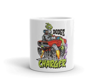 Hot Rod Coffee Mug - Coffee Cup - Tea Cup - Coco Cup - Dodge Charger Cup Free Shipping! Mopar