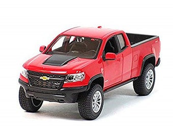 Collectible 1/24 Scale Diecast 2017 Chevrolet Colorado ZR2 Pickup Truck (Red) Diecast Model from Maisto
