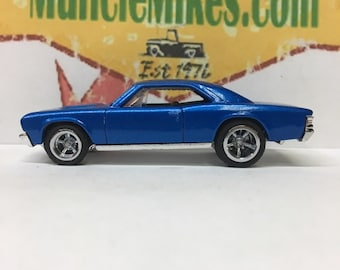 Custom Hot Wheels: 1967 Chevelle with American Racing Wheels Rubber Tires Custom Painted Intense Blue Pearl