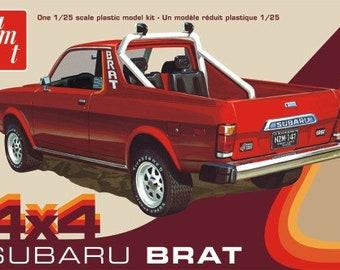Plastic Model Kit: AMT-1128 1978 Subaru Brat 4x4 Pickup Truck Model Kit