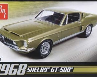 Plastic Model Kit: 1968 Shelby GT500 Model Kit + Best Deal Online + DISPLAY CASE INCLUDED +