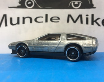 "Hot Wheels CMC DeLorean ""Marty McFly-er"" Back To The Future: BARE METAL"