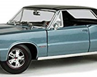 Collectible 1/18 Scale Diecast 1965 Pontiac GTO Hurst Edition Hardtop (Met. Blue)