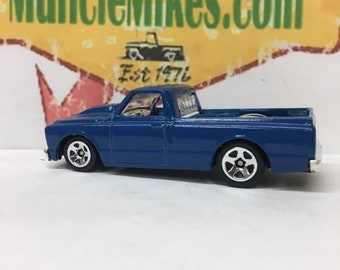 Hot Wheels 1967 Chevy C-10 Truck Custom Painted Cobalt Blue