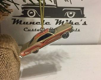 Hot Wheels Christmas Ornament 1965 65 Pontiac Bonneville lowrider low rider