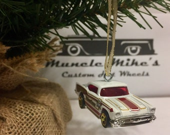 Hot Wheels Christmas Ornament Custom  57 Chevy