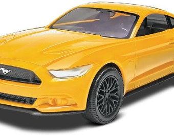 Plastic Model Kit: RMX-1697 2015 Ford Mustang GT (Yellow) (Snap) Model Kit Free Shipping!