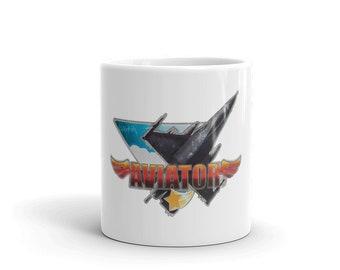 Hot Rod Coffee Mug - Coffee Cup - Tea Cup - Coco Cup - Aviator Jet Cup Free Shipping!