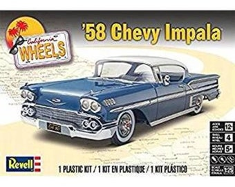 Plastic Model Kit 1958 Chevy Impala Plastic Car Model Free Shipping!