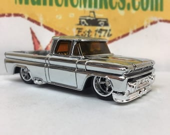 Hot Wheels Custom 1962 Chevy Pickup C10 Real Rider Rubber Tires: POLISHED