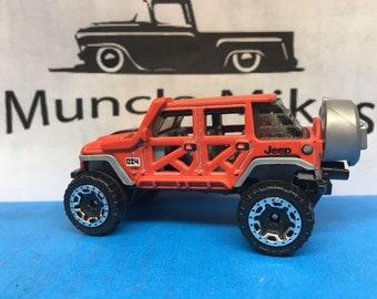 Hot Wheels 17 Jeep Wrangler Custom Painted Factory Satin FLAT RED