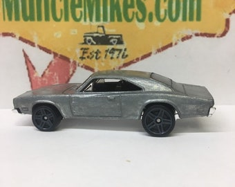 Custom Hot Wheels 1969 Dodge Charger 500 Muscle Car Hot Rod BARE METAL