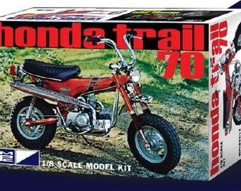 Plastic Model Kit mpc-833 Honda Trail 70 Mini Bike Motorcycle Plastic Model + Best Deal Online + DISPLAY CASE INCLUDED +