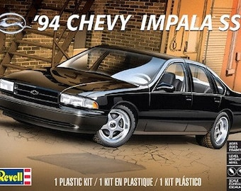 Plastic Model Kit RMX-4480 1994 Chevy Impala SS Plastic Car Model Free Shipping!