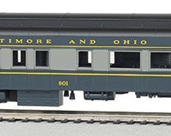 Model Railroading BAC-13803 72' Heavyweight Lighted Observation Baltimore & Ohio #901