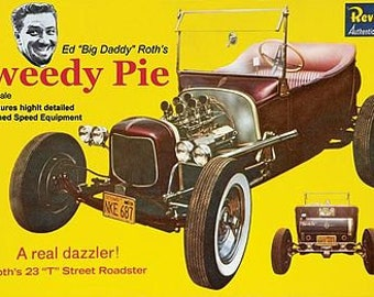 Plastic Model Kit 1923 T-Bucket Roadster Ed Roth Tweety Pie Plastic Car Model Free Shipping!