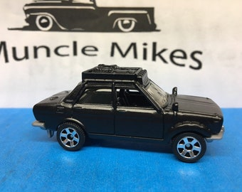 Matchbox: Datsun 510 Custom Painted FLAT BLACK