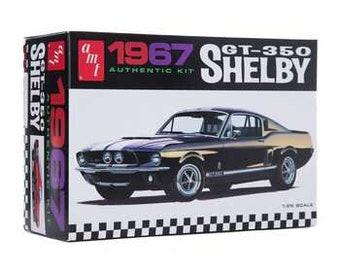 Plastic Model Kit: AMT-834 1967 Shelby GT-350 Authentic Model Kit Molded in White