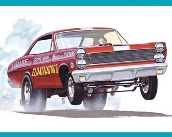 Plastic Model Kit amt-1151 Dyno Don Mercury Cyclone Eliminator 2 Funny Car Plastic Car Model + Best Deal Online  DISPLAY CASE INCLUDED