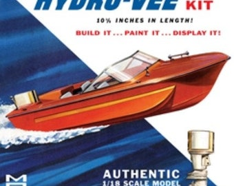Plastic Model Kit: MPC-883 Hydro-Vee Boat Model Kit Free Shipping!