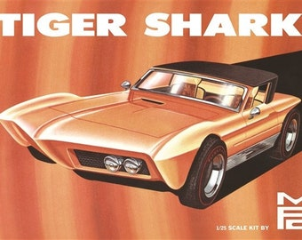 Plastic Model Kit mpc-876 Tiger Shark Show Rod Model Kit  + Best Deal Online + DISPLAY CASE INCLUDED +