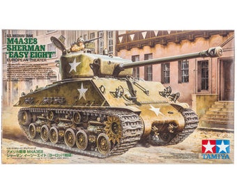 "Plastic Model Kit: M4A3E8 Sherman ""Easy Eight"" European Theater Tank Model Kit Free Shipping!"