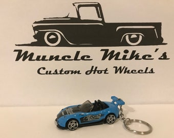 Hot Wheels 2015 blue Eibach Mazda Miata MX-5 Christmas Ornament,  Keychain or Zipper Pull