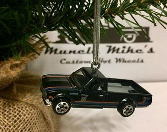 Hot Wheels Christmas Ornament Datsun 620 pickup truck mini truck