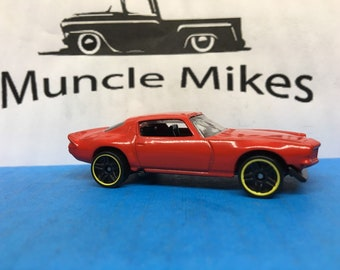 Custom Hot Wheels 1970 Camaro Custom Painted Gloss Cherry Red RED