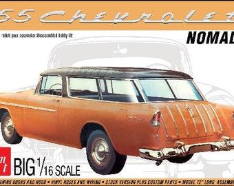 Plastic Model Kit: AMT-1005 1/16 1955 Chevy Nomad Wagon Free Shipping!