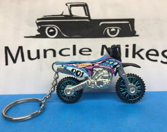 Hot Wheels Dirt Bike Christmas Ornament,  Keychain or Zipper Pull