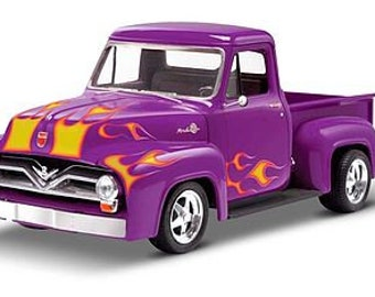 Plastic Model Kit rmx-880 1955 Ford F-100 Pickup Street Rod Model Kit + Best Deal Online + DISPLAY CASE INCLUDED +